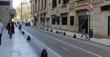Calles peatonales del Microcentro porteño donde no se puede estacionar