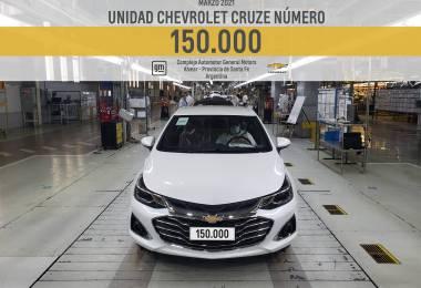 Chevrolet-anuncia-la-fabricación-local-de-la-unidad-150 000-de-su-modelo-Cruze